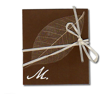 Leaf with Ribbon Wrap